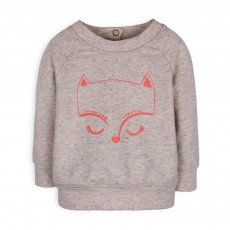 Sweat Chat Chiné Gina Gris clair