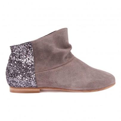 bottines paillettes arri re gris anniel chaussures smallable. Black Bedroom Furniture Sets. Home Design Ideas