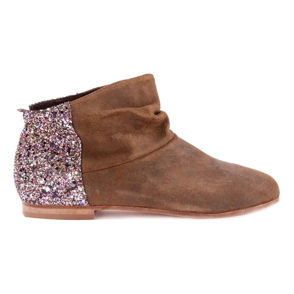 bottines paillettes arri re camel anniel chaussures smallable. Black Bedroom Furniture Sets. Home Design Ideas