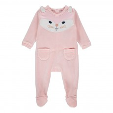 Pyjama Velours Lapin Rose