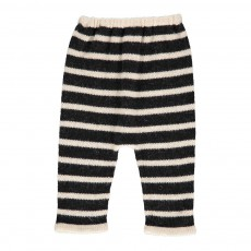 Exclusivité Oeuf x Smallable- Sarouel Baby Alpaga Rayé Hammer Pants Ecru