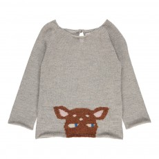 Exclusivité Oeuf x Smallable - Pull Baby Alpaga Bambi Gris clair