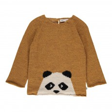 Exclusivité Oeuf x Smallable - Pull Baby Alpaga Panda Ocre
