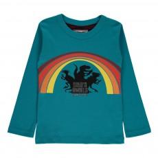 T-shirt Dino's Angels - Edition Anniversaire Bleu canard