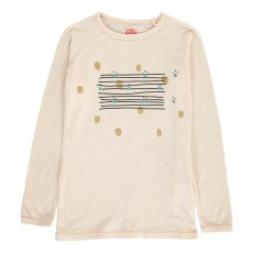 T-Shirt Pois Rayures Beige