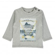 T-shirt Coton Biologique Trail ML Gris clair