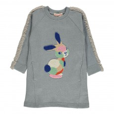 Robe Lapin Lurex Cosy Bunny Gris clair