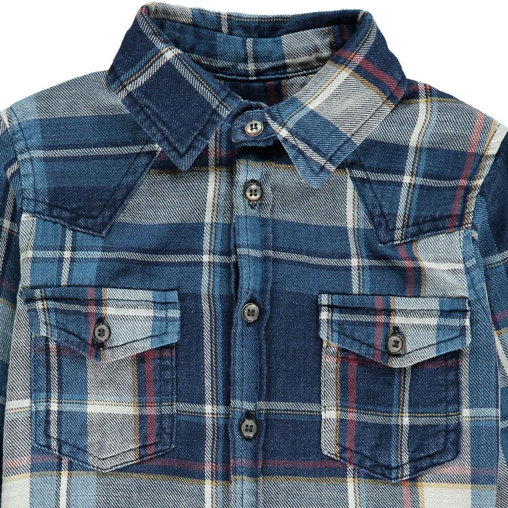 chemise carreaux cash bleu morley mode ado gar on smallable. Black Bedroom Furniture Sets. Home Design Ideas