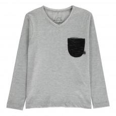 T-shirt Poche Teo ML Gris chiné