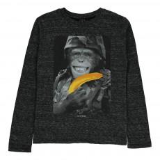 T-shirt Monkeybo Gris anthracite