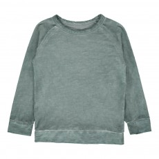 T-Shirt Délavé Cheetah Vert de gris