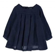 Robe Plissée Chérie Bleu marine
