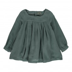 Robe Plissée Chérie Vert foncé