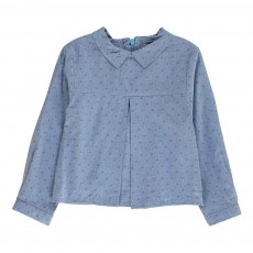 Blouse Col Chambray Colombe Bleu