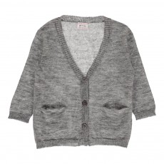 Cardigan Poches Alisson Gris chiné