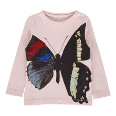 T-Shirt Butterfly Rose pâle