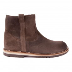 Bottines Zippées Marron