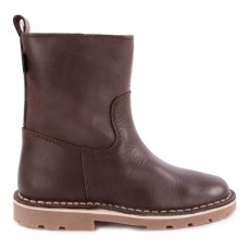Low Boots Cuir Halley Fourrées Marron