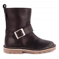 Low Boots Style Motard Noir