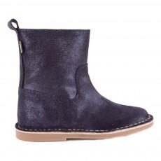 Ankle Boots Glitter avec Zip Bleu marine