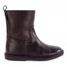 Ankle Boots Cuir Fourrées Noir