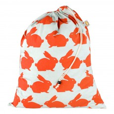 Sac à linge en coton - Lapin Orange