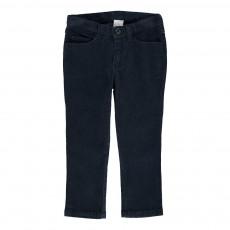 Pantalon Velours Slim Navy Bleu marine