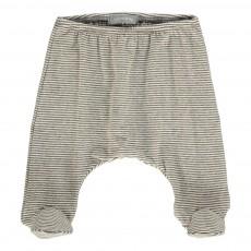 Pantalon Rayé Pieds Nur Gris clair