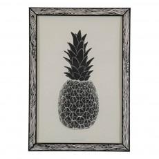 Affiche Ananas 29,7x42 cm Noir