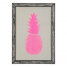 Affiche Ananas 29,7x42 cm Rose