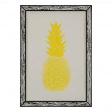 Affiche Ananas 29,7x42 cm Jaune