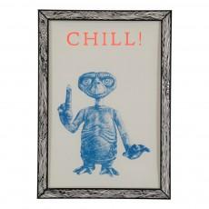 Affiche Chill! 29,7x42 cm Bleu