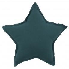 Coussin étoile - Bleu pétrole