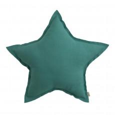 Coussin étoile Bleu turquoise