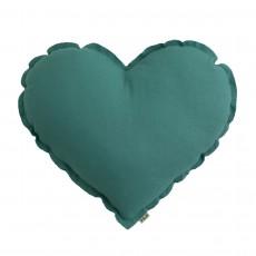 Coussin Coeur Bleu turquoise