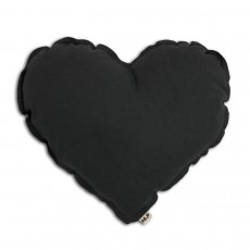Coussin Coeur Gris anthracite