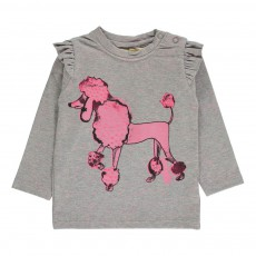 T-Shirt Caniche Maddy Gris chiné