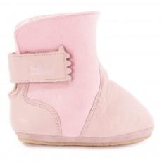 Boots Fourrées à Scratch Chobotte Rose