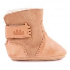 Boots Fourrées à Scratch Chobotte Beige