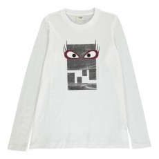 T-Shirt Monstre Argenté Blanc