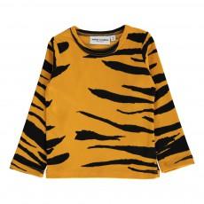 T-shirt Rayures Tigre Coton Bio ML Orange