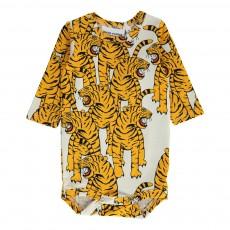 Body Tigre Bengal Coton Bio Blanc