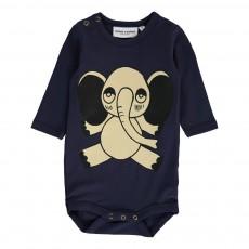 Body Elephant Coton Bio Bleu marine