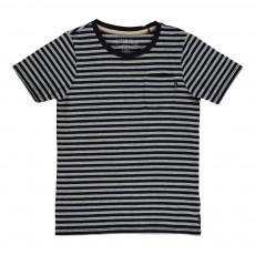 T-shirt Rayé Bleu nuit