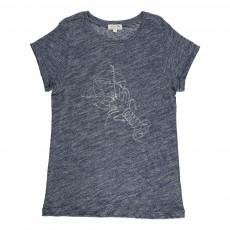 T-Shirt Chiné Ecrevisse Peanut Bleu marine