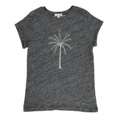 T-Shirt Chiné Palmier Peanut Noir