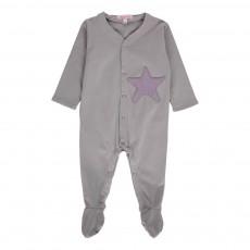 Pyjama Etoile Gris clair