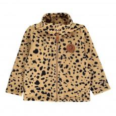 Sweat Polaire Leopard Beige