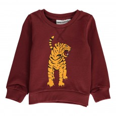 Sweat Tigre Bengal Coton Bio Bordeaux