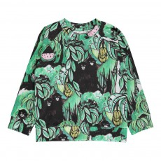 T-shirt Monkey Coton Bio ML Noir